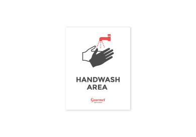 restaurant handwash sign