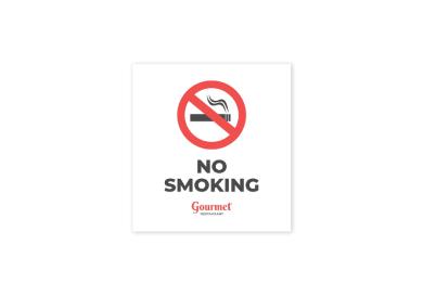 restaurant no smoking sign