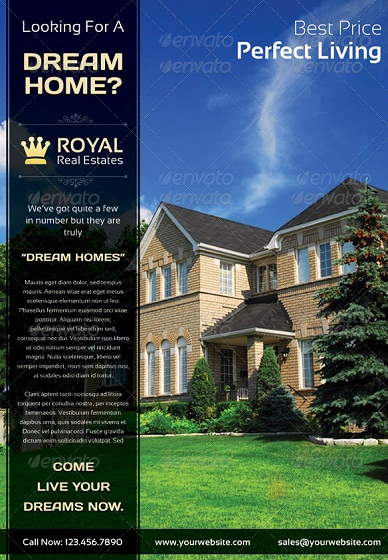royal residential real estate marketing flyer