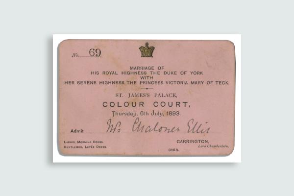 royal wedding ticket