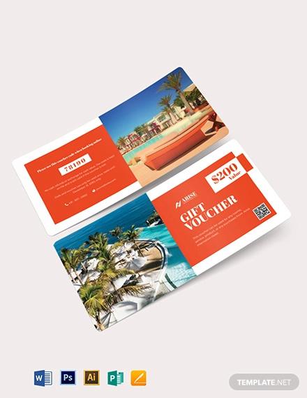 sample hotel voucher template