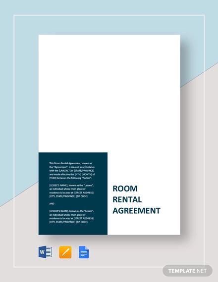 11 Room Rental Agreement Examples Pdf Word Examples