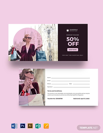 sample shopping voucher template