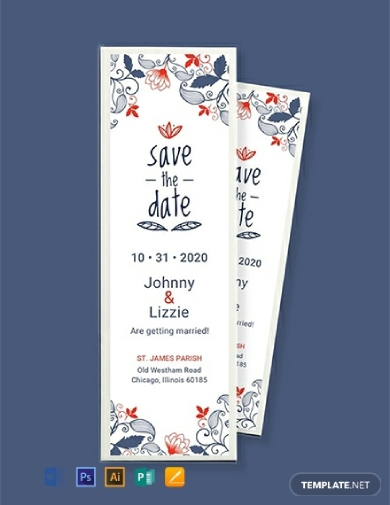 save the date bookmark1