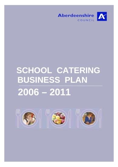 school catering business plan