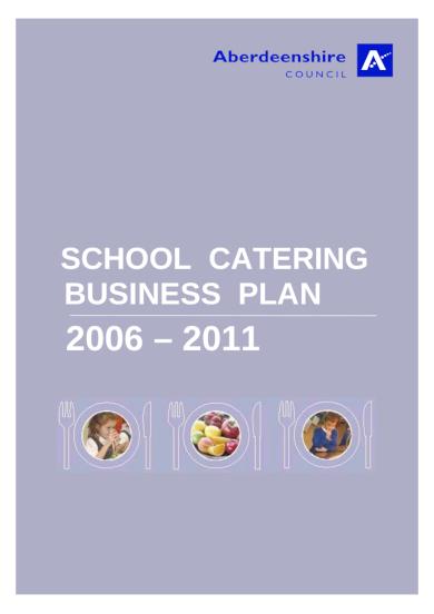 school catering business plan