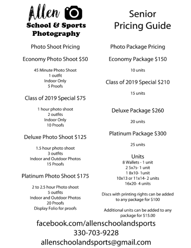 school sports photography budget