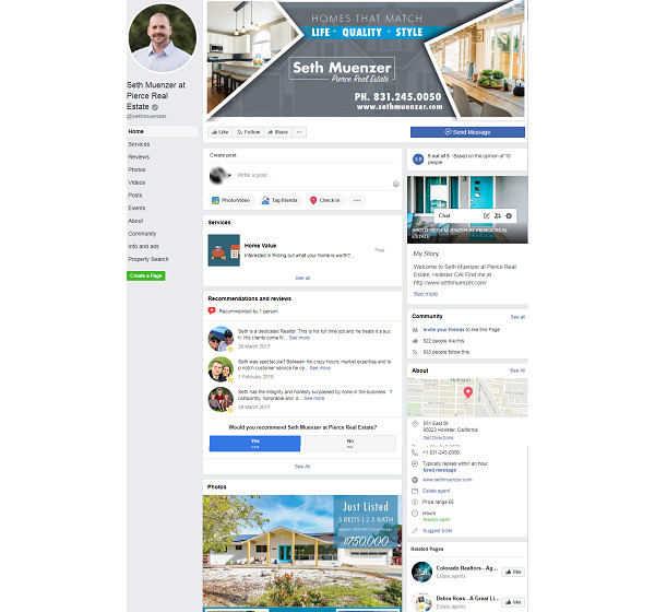 seth muenzer real estate facebook page sample