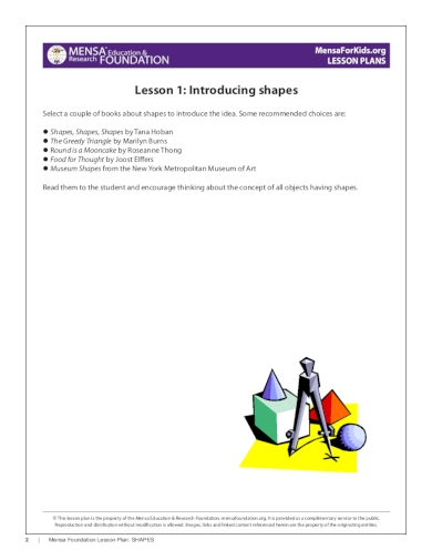 shapes preschool lesson plan