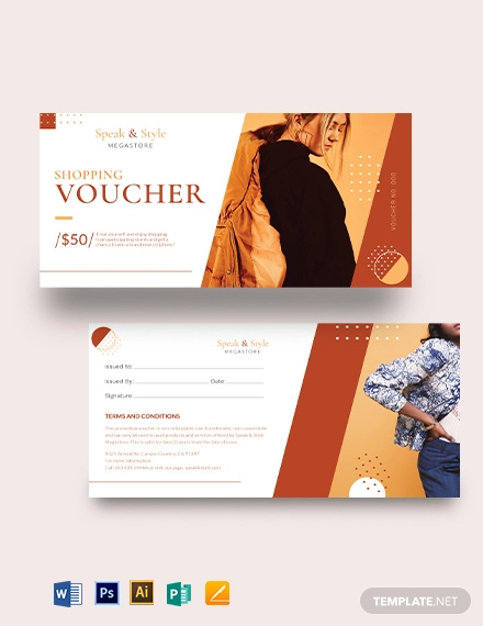 shopping promotion voucher template
