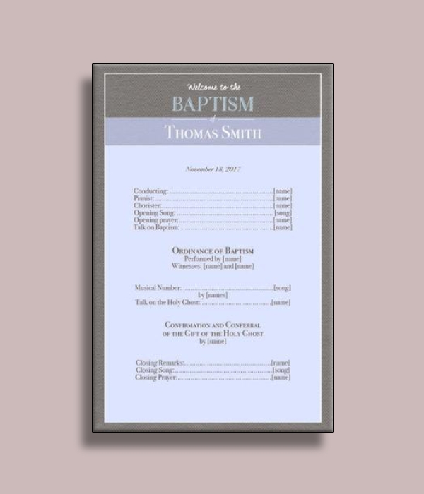 simple baptism program