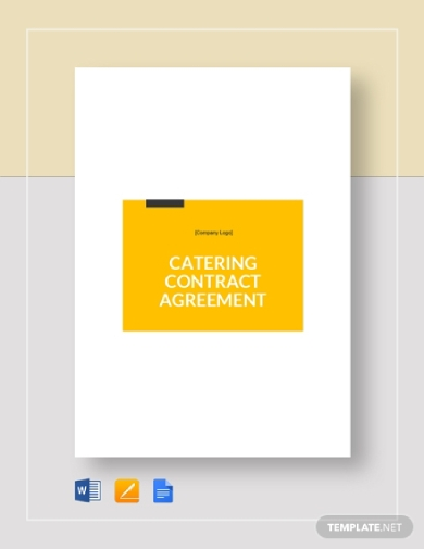 simple catering contract
