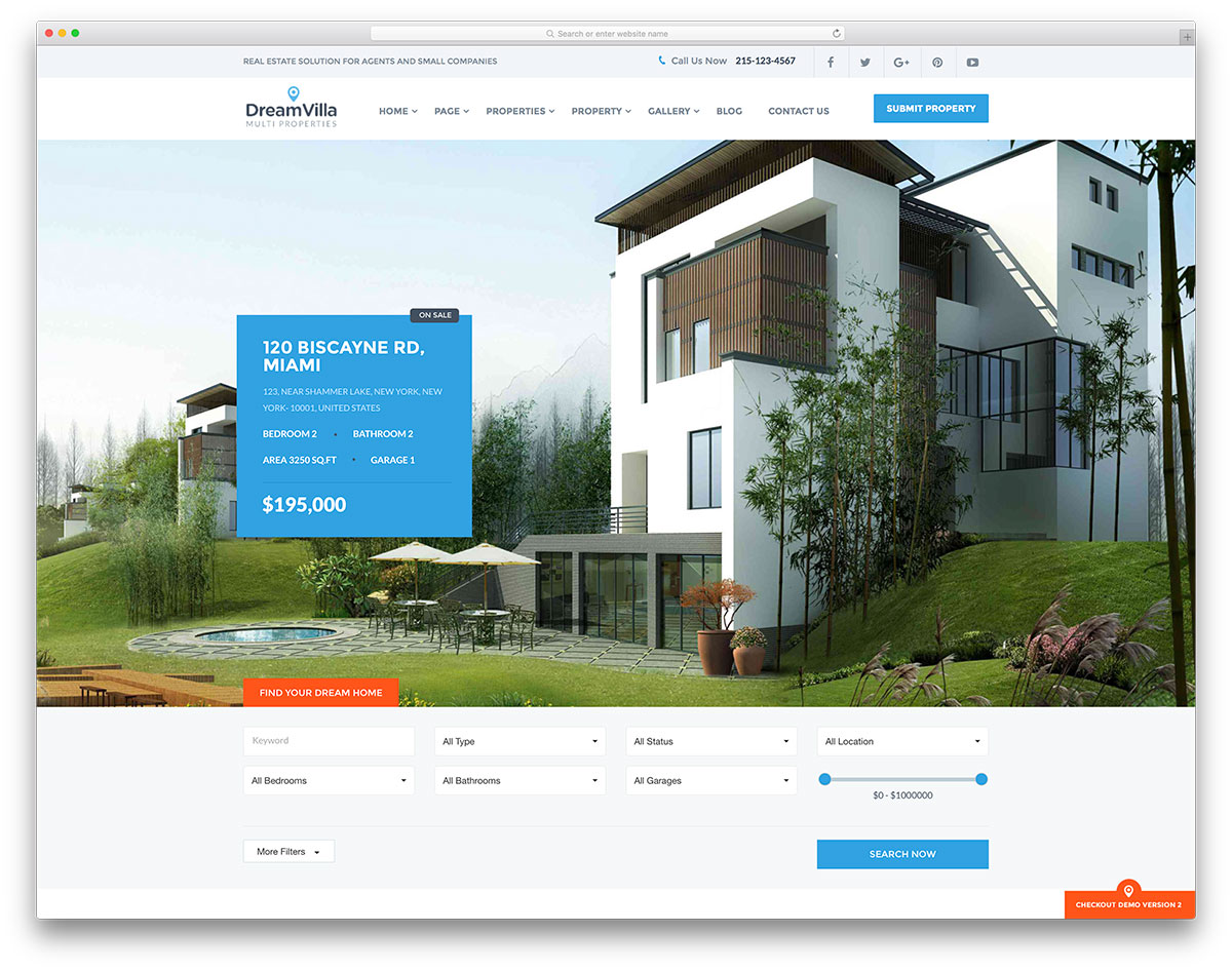 simple commercial real estate wordpress template1