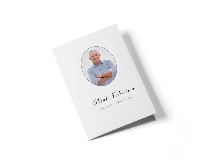 simple funeral leaflet