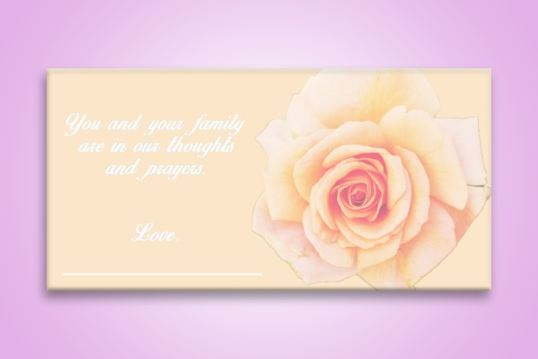 simple funeral sympathy card