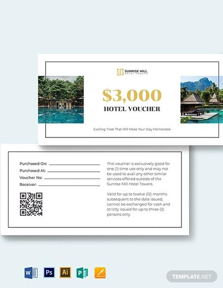 simple hotel voucher template