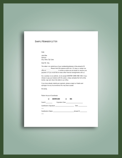 simple late rent notice to tenant