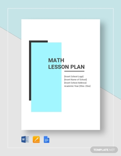 simple math lesson plan