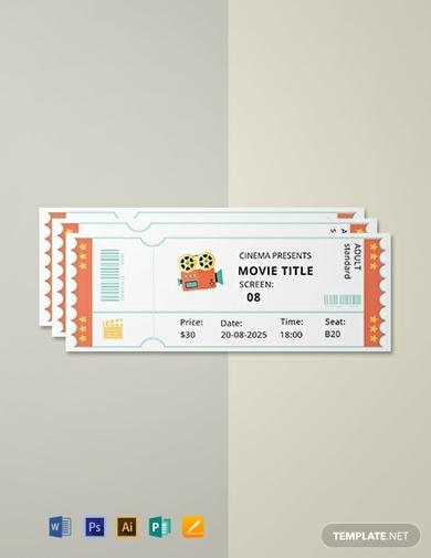 simple movie ticket