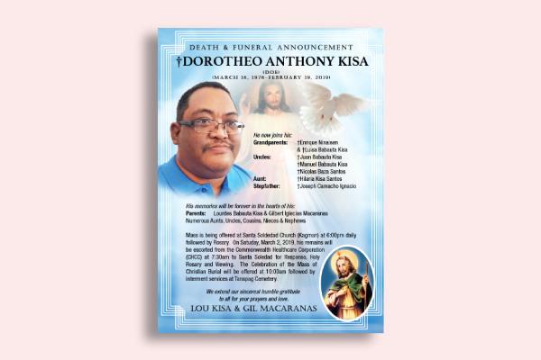 simple obituary announcement