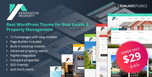 simple property management wordpress template