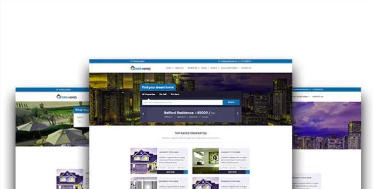 simple realtor website template