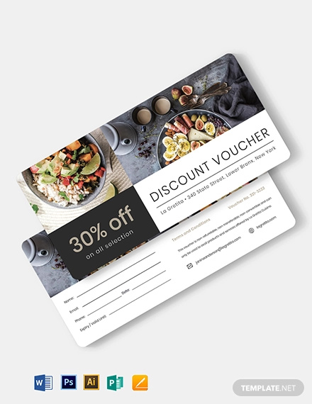 simple restaurant voucher template
