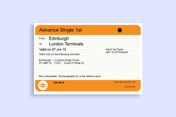 simple train ticket