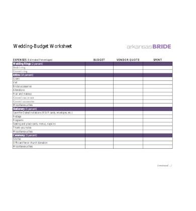 simple wedding budget worksheet1