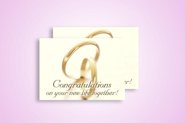 simple wedding congratulations card