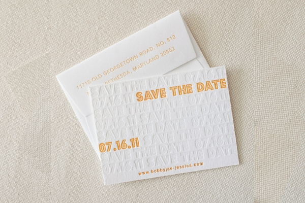 simple wedding save the date card