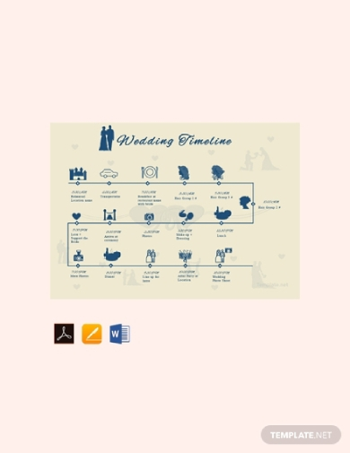 simple wedding timeline