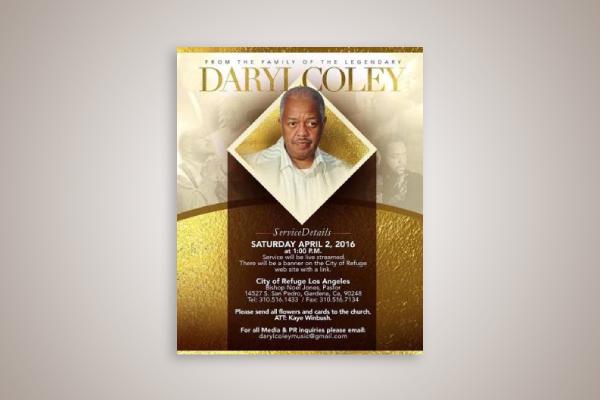 singer obituary flyer