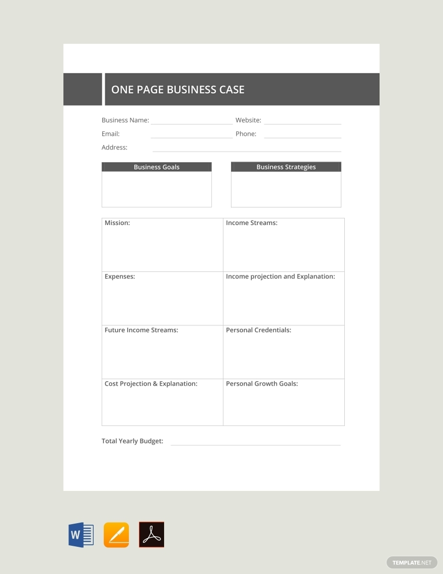 single page real estate case study template