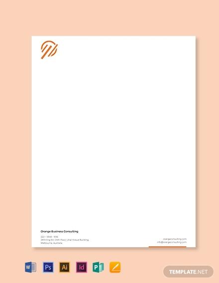 small real estate business letterhead
