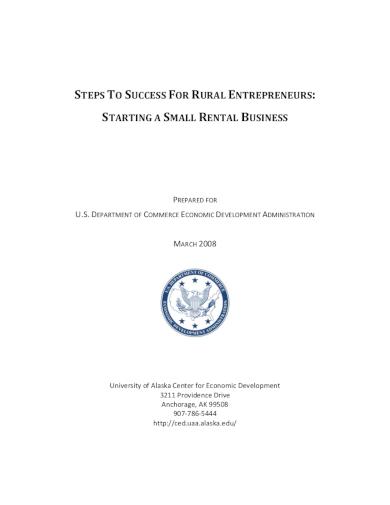 small rental business plan