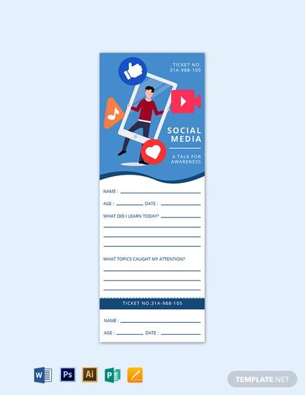 social media exit ticket template