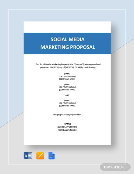 Free 12 Social Media Marketing Proposal Examples Samples