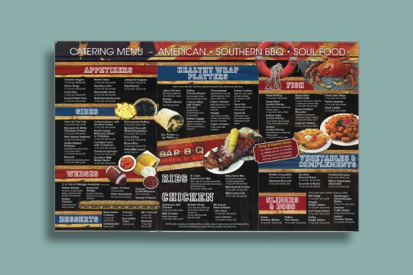 southern bbq and soul food catering menu