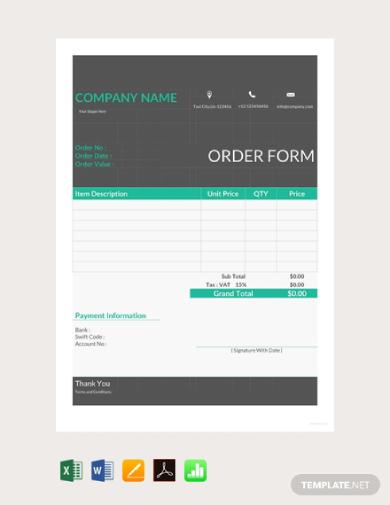 special order form