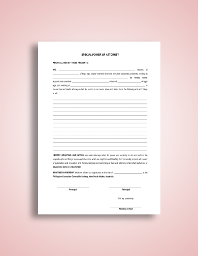 special power of attorney form