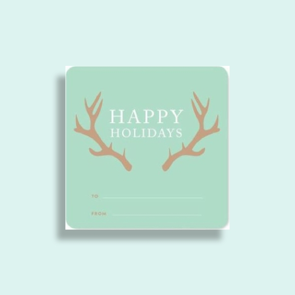 square holiday gift label