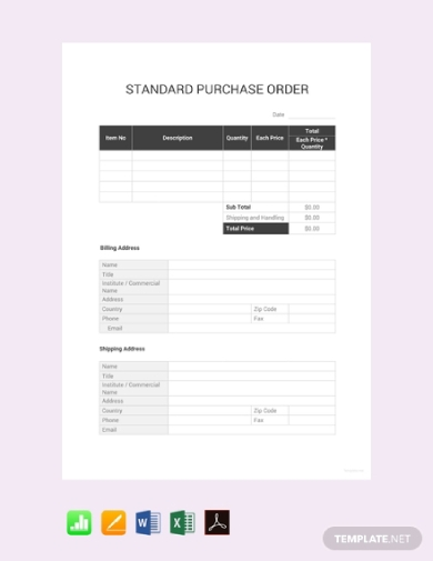 10 order examples templates in google sheets download