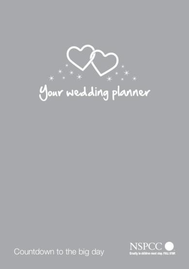 standard wedding plan