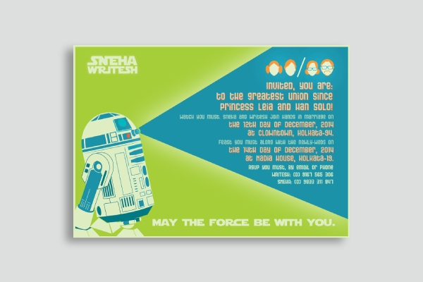 star wars wedding announcement