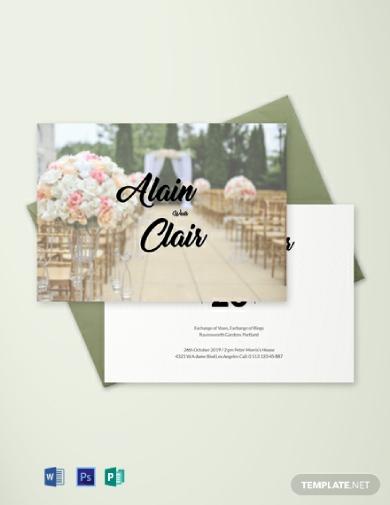 stylish wedding invitation card