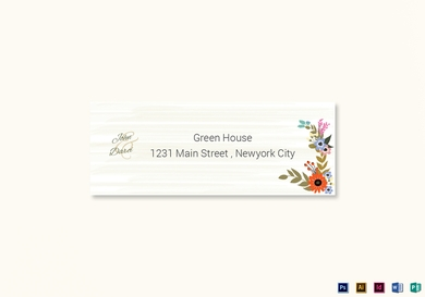 summer floral wedding address label card