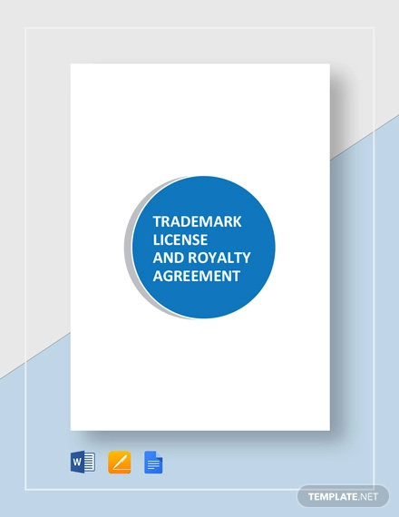 trademark license and royalty agreement template