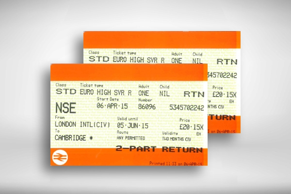 train travel ticket