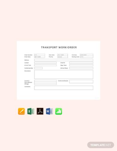 transport work order